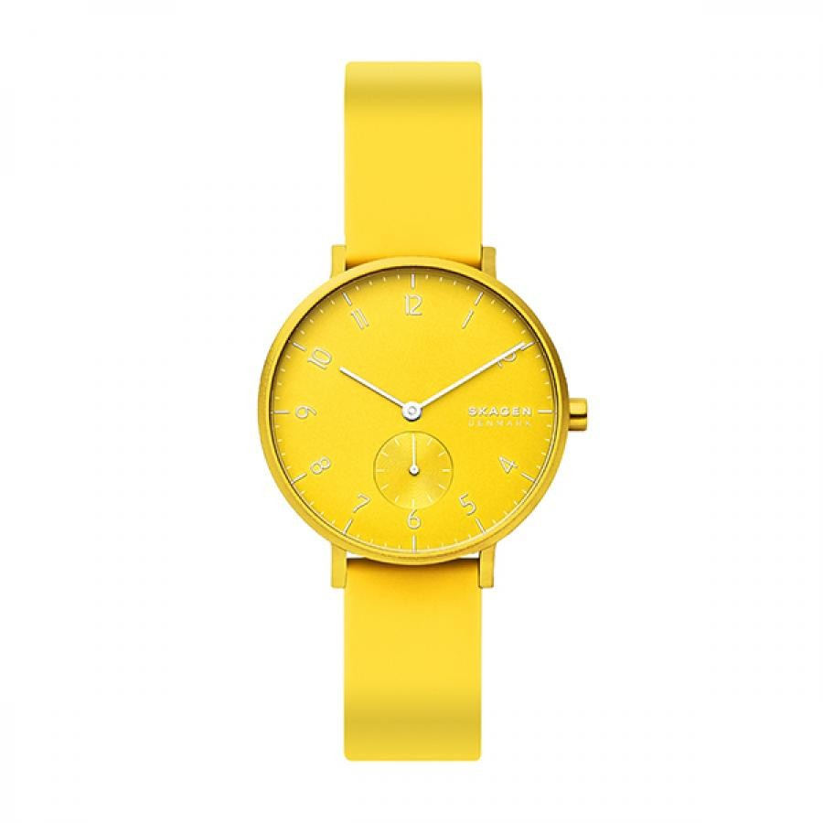 SKAGEN スカーゲン  腕時計 Aaren Kulor アーレン 36mm ネオンイエロー シリコンウォッチ SKW2820