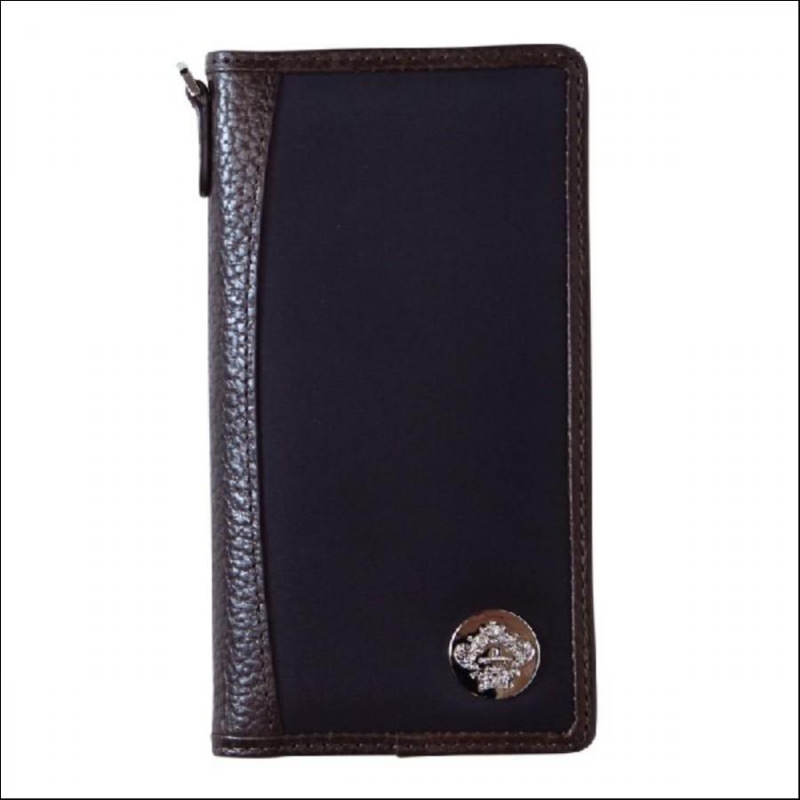 OROBIANCO オロビアンコ CLASSICO iPhone XR X XS 専用 手帳型 スマホ アイフォン ケース ブラック ORIP-001XS BK