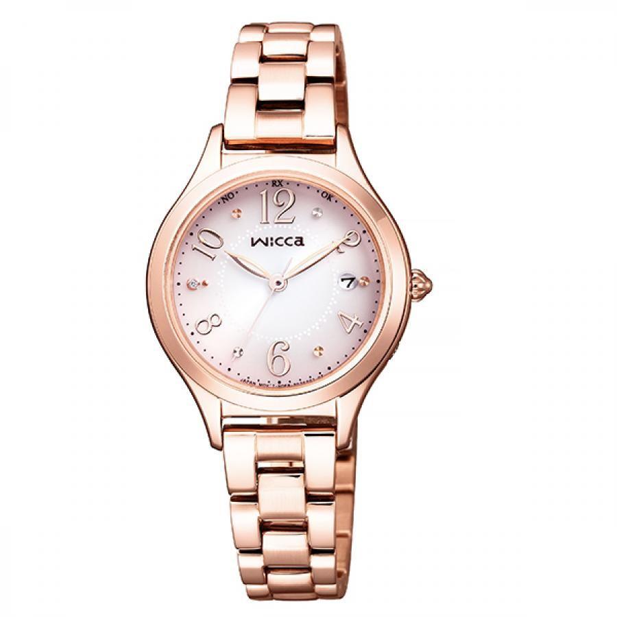 wicca ウィッカ CITIZEN シチズン ソーラー テック電波 腕時計 レディース KS1-261-91