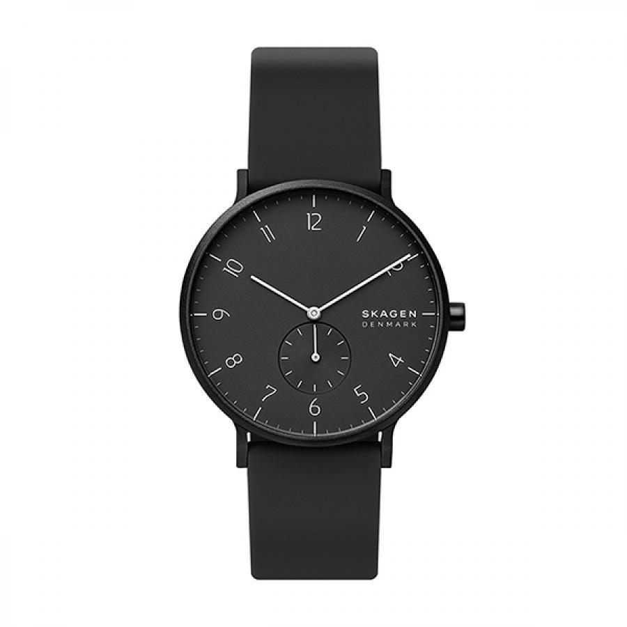 SKAGEN スカーゲン 腕時計 Aaren Kulor アーレン41mm ブラックシリコン メンズ  SKW6544