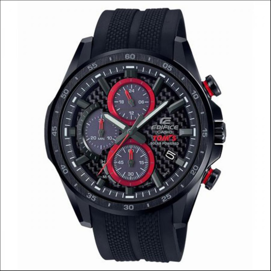 EDIFICE エディフィス CASIO カシオ TOMS トムス コラボレーション 腕時計 EQS-900TMS-1AJR