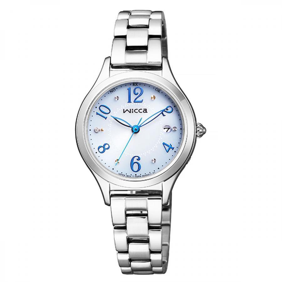 wicca ウィッカ CITIZEN シチズン ソーラー テック電波 腕時計 レディース KS1-210-91