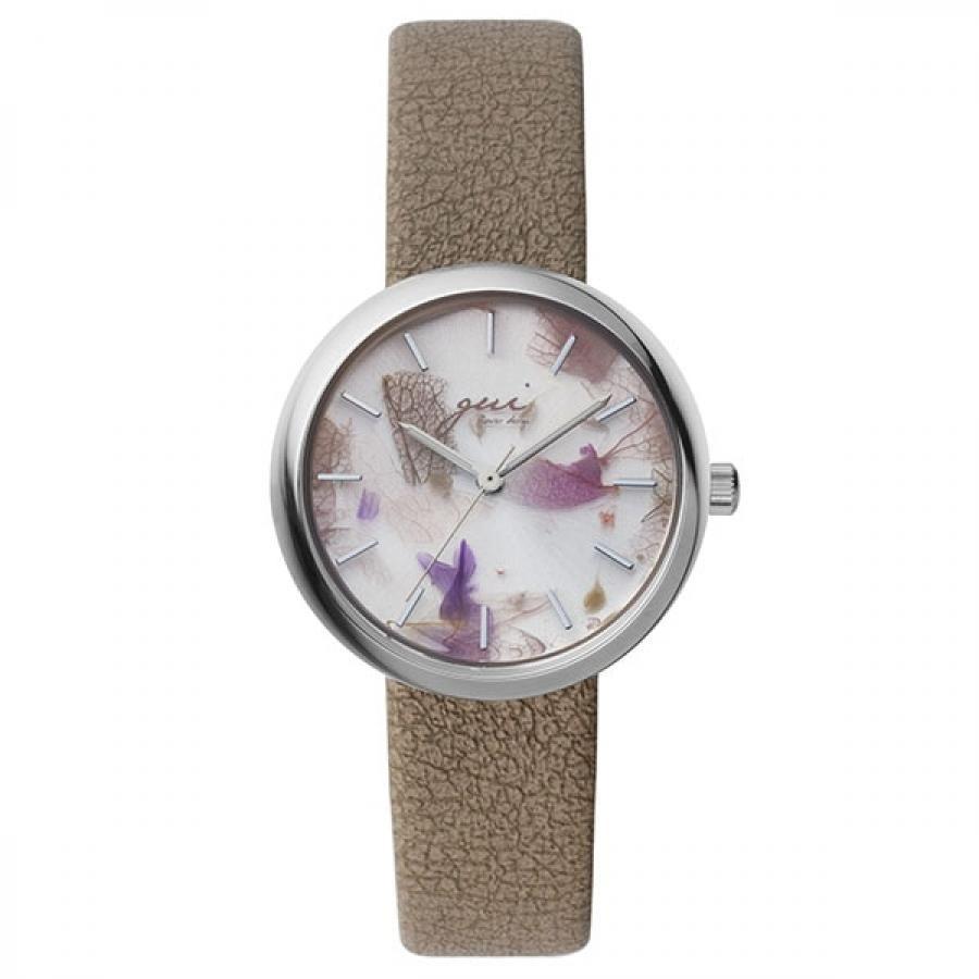 SPICA×gui flower design スピカ×グイ フラワー デザイン フラワーアーティスト 前田有紀 TiCTACオリジナル SPI64-SS/BR ブラウン×パープル 腕時計 レディース
