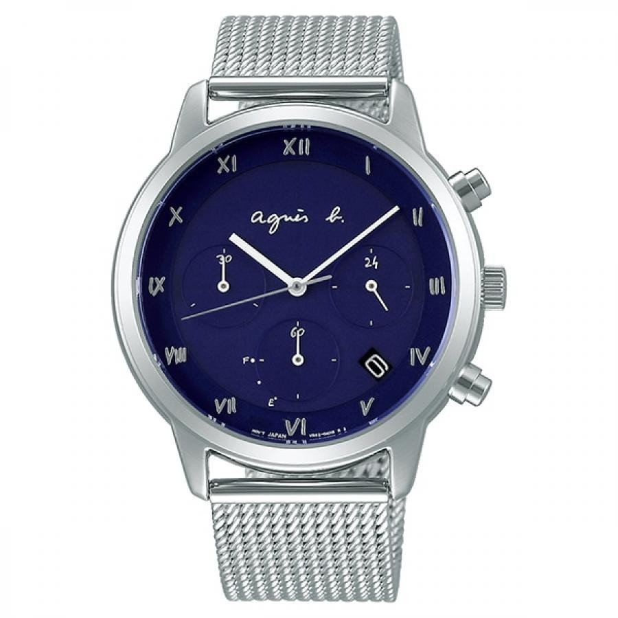 アニエスベー  agnes.b.  SEIKO Marcello マルチェロ FBRD938 ソーラー 腕時計 メンズ