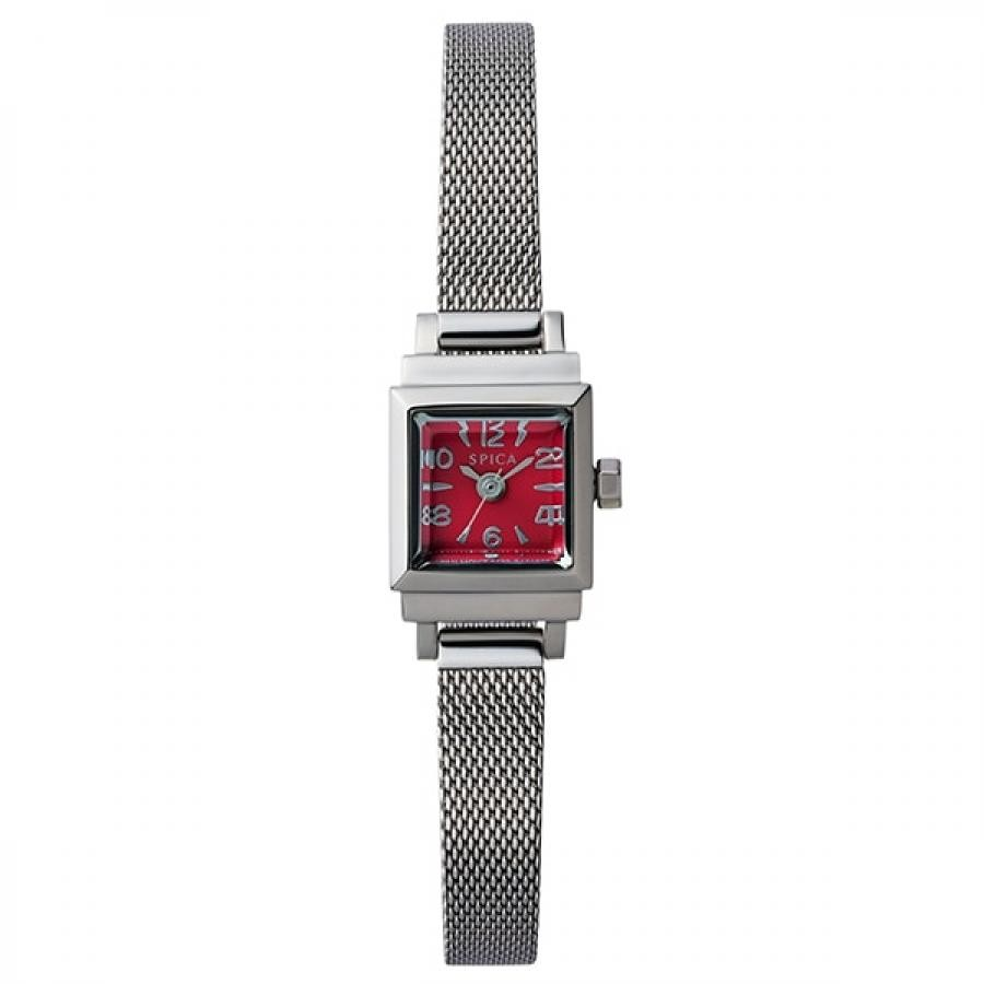 SPICA スピカ TiCTACオリジナル Petit Square プチスクエア SPI07-SS/RE レッド 腕時計 レディース