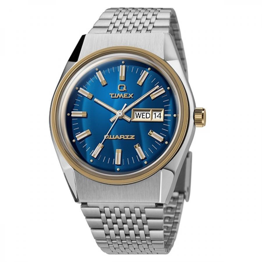 TIMEX Q タイメックス キュー TW2T80800 TiCTAC限定モデル ダイバーズルック クォーツ ブルー 腕時計 メンズ