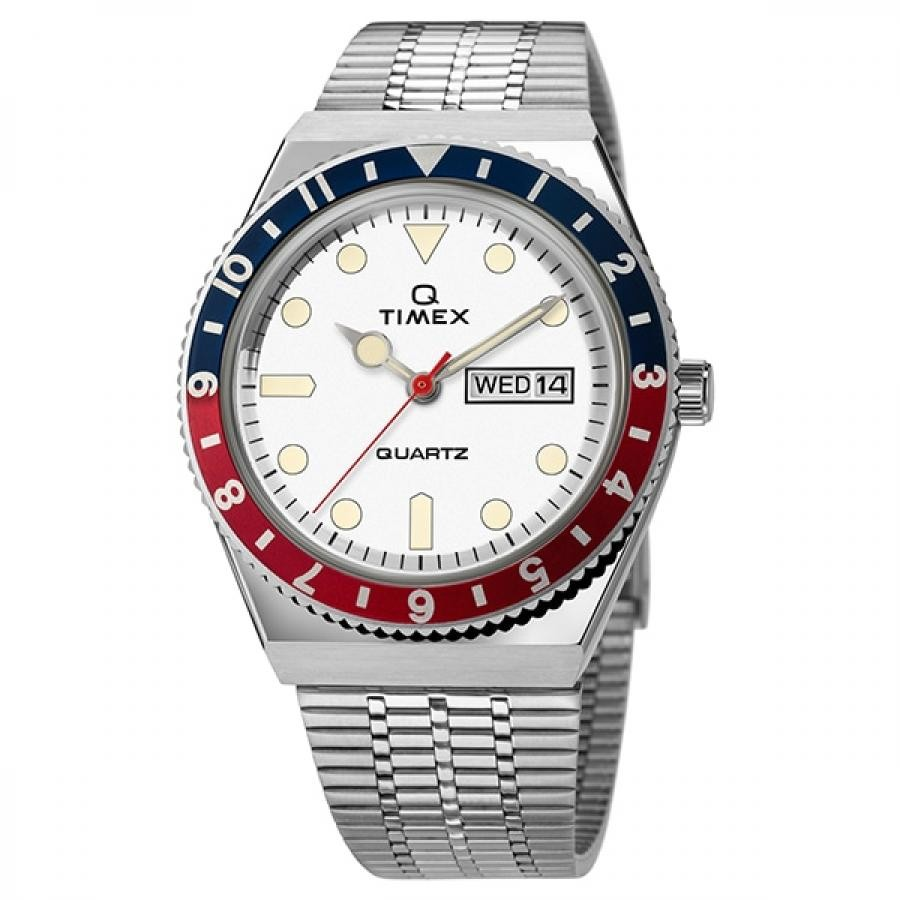 【TIMEX】 TIMEX Q TW2U61200 ダイバーズルック ホワイト メンズ