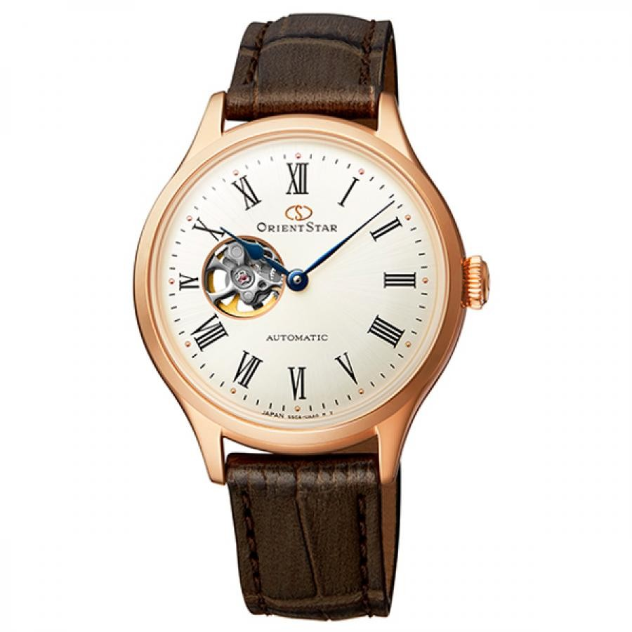 オリエントスター ORIENT STAR 腕時計 レディス 機械式自動巻 CLASSIC セミスケルトン RK-ND0003S