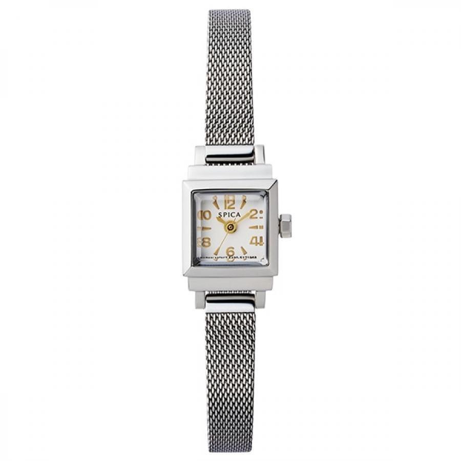 SPICA スピカ TiCTACオリジナル Petit Square プチスクエア SPI07-SS/SS ホワイト 腕時計 レディース