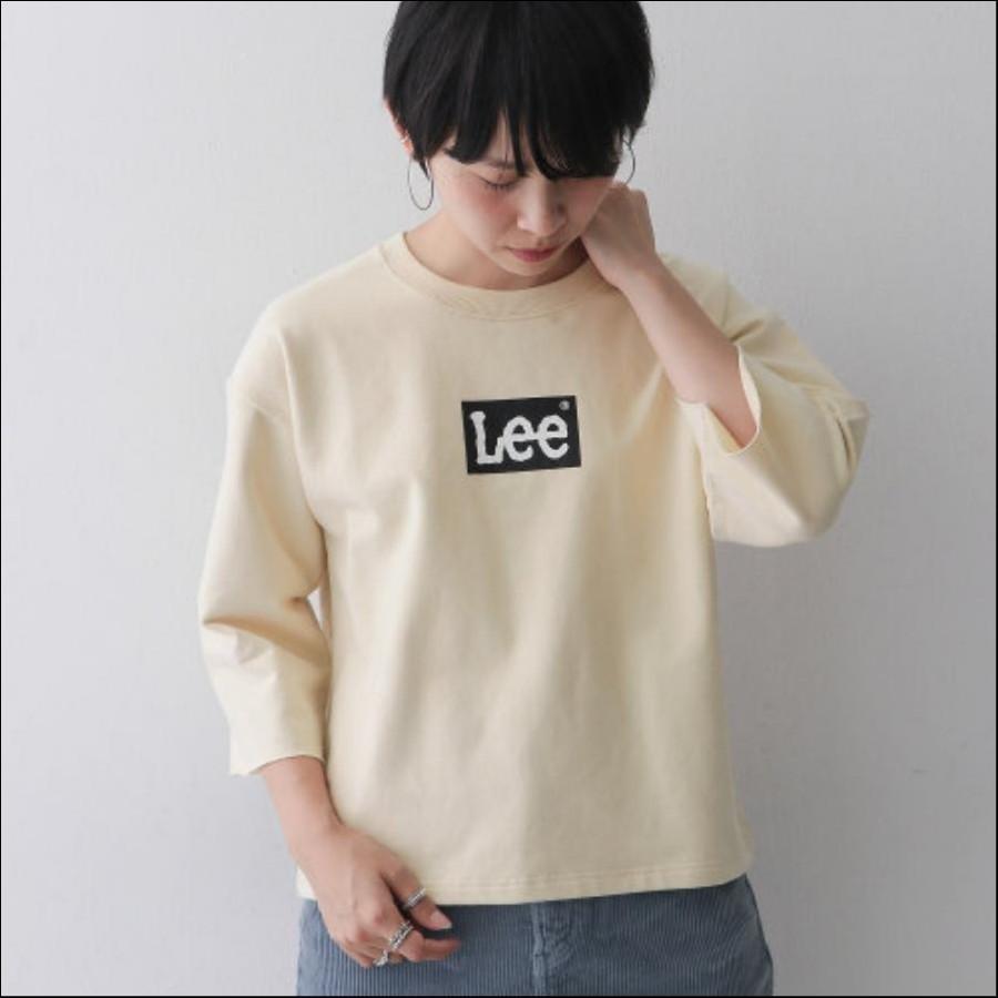 Lee×DOORS-natural- ボックスロゴルーズTシャツ