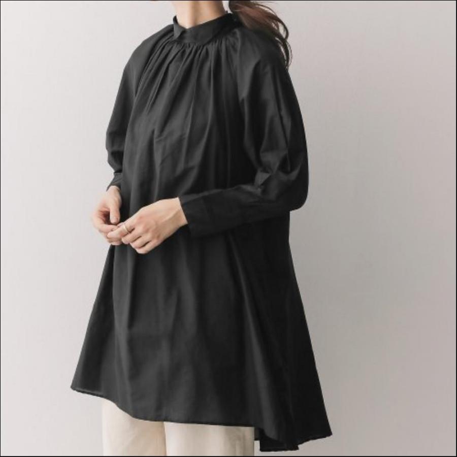 mizuiro-ind shirt collar volume one-piece