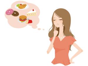 背中ニキビの原因は脂っこいものや甘いものの摂りすぎも