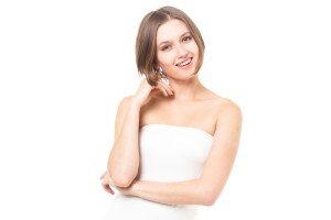 bsCRI_IMG_6011 きれいな歯で笑う女性 笑顔 口元 外国人モデル