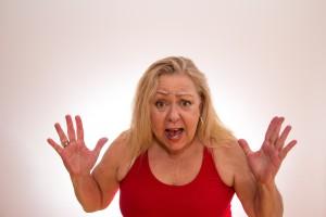 044 シニア女性 驚く びっくりする 困る 健康 病気 長生き 認知症