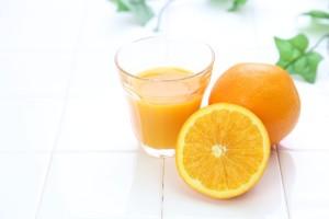 翌朝はオレンジジュースで