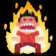 pose_sugoi_okoru_man 怒り 燃える 元気
