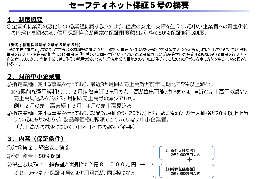 ネット 業種 号 セーフティ 5 指定