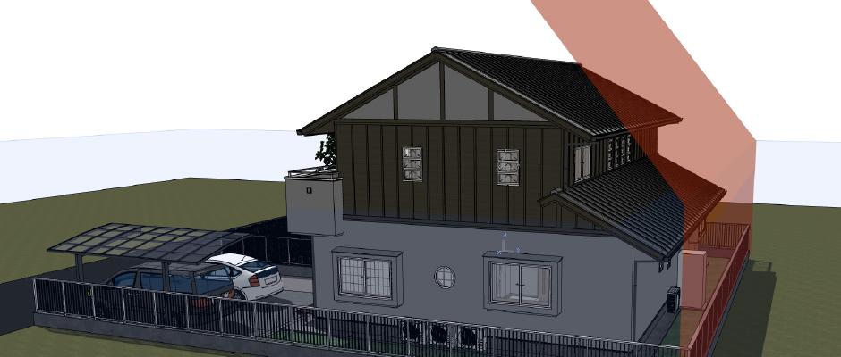 仮想の建物(以下の資料:グラフィソフトジャパン)