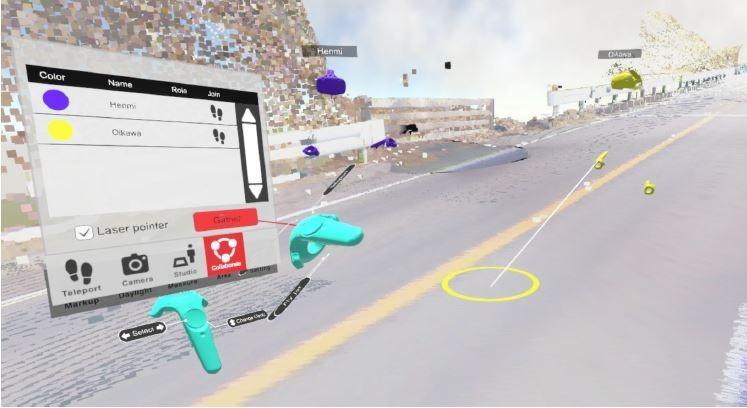 VR空間内の1カ所に全員が集まる「集合機能」のイメージ
