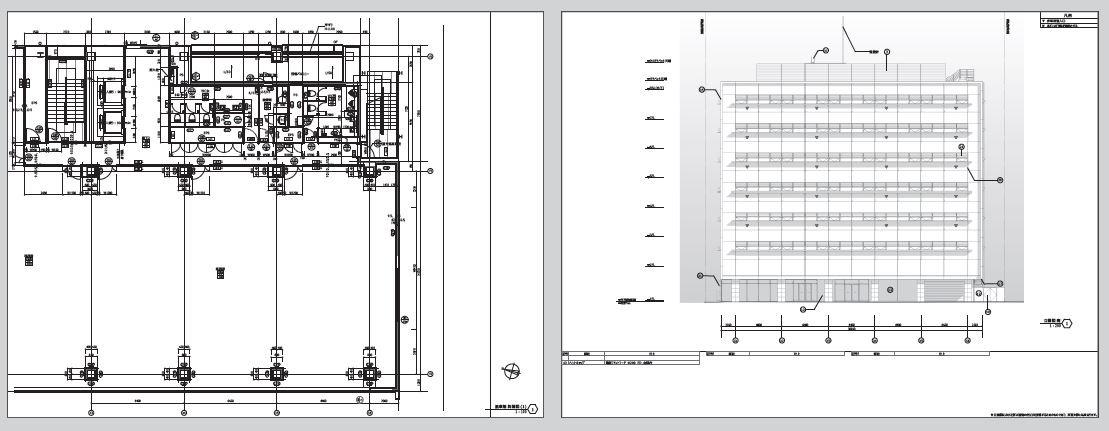 図面やパースを作成するためのテンプレート