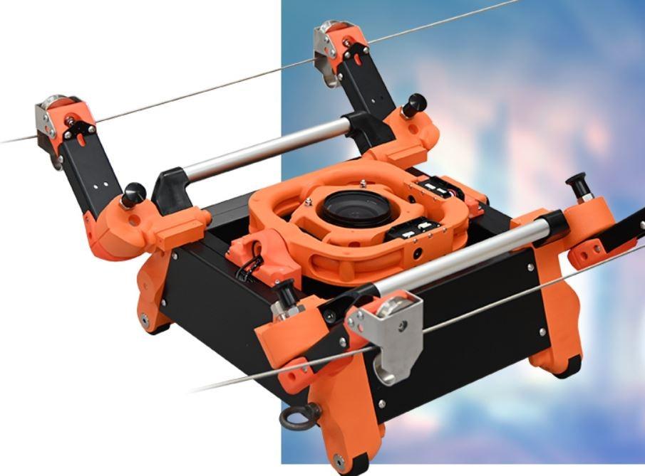 ロープウエー型ロボット「Rope Stroller」(写真:イクシス)