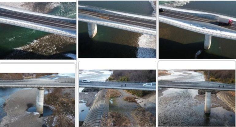 橋梁をいろいろな角度から撮影した写真