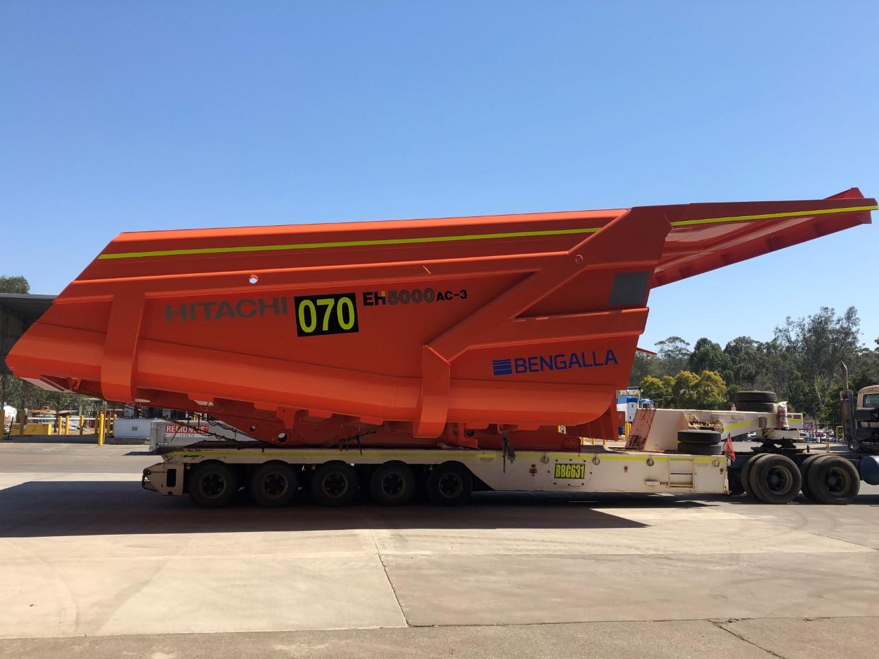 ブラッドケン社が製造したリジッドダンプトラックの荷台