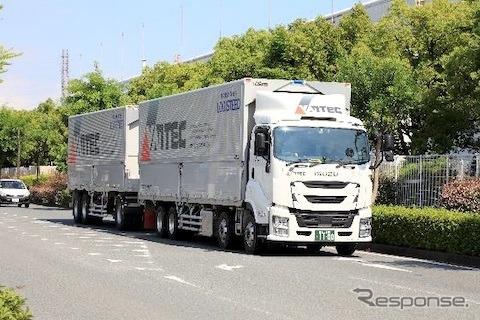 バンテック、ダブル連結トラック輸送を開始 静岡-京都