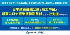 新型コロナウイルス感染症関連で経済産業省より支援策公開中