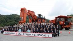 超大型油圧ショベルEX5600-7、リジッドダンプトラックEH3500AC-3納入式典を開催