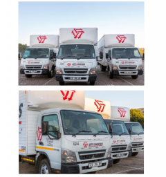三菱ふそう 南アフリカの物流会社に小型トラック「キャンター」43 台を納車