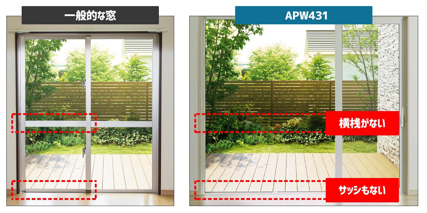 一般窓とAPW431の構造比較