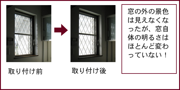 サンシャインウォールの取り付け前と取り付け後の比較写真