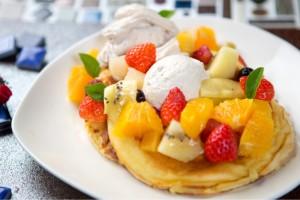 スワンタイルカフェオリジナルパンケーキの写真