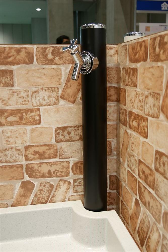 丸形アルミ水栓柱