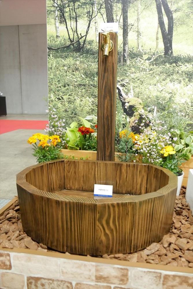 木調水栓柱
