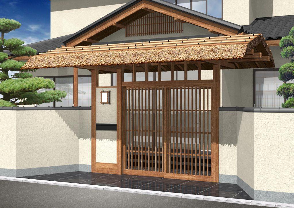 住宅の門への取付イメージ