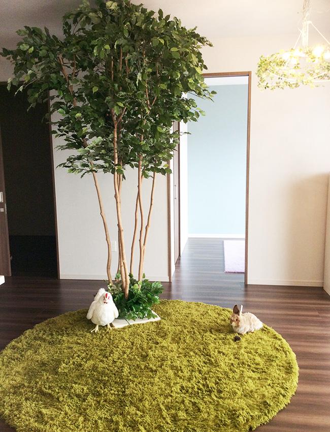 人工樹木・人工観葉樹・造花の施工例 (3)