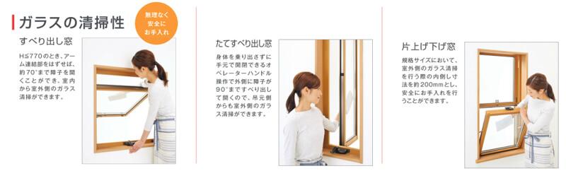 窓の掃除のしやすさ