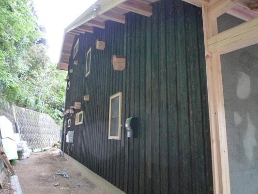 焼杉板の施工例1