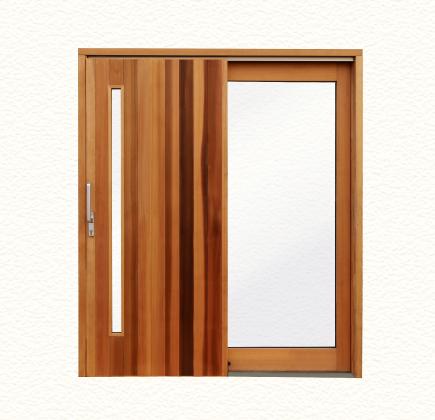 大和屋木製玄関引き戸 正面