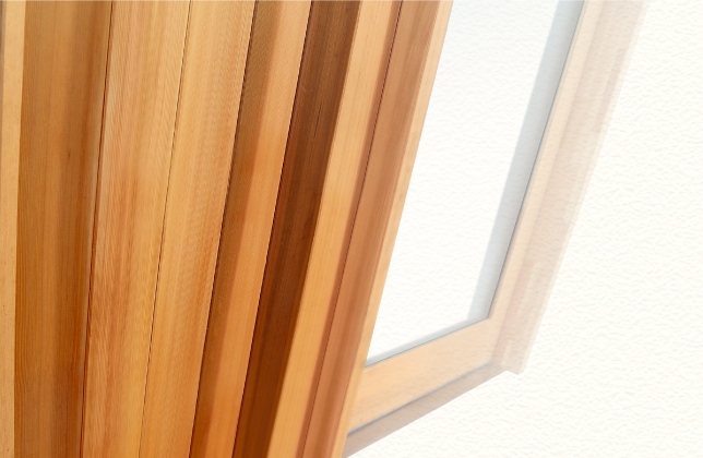 大和屋木製玄関引き戸 表面