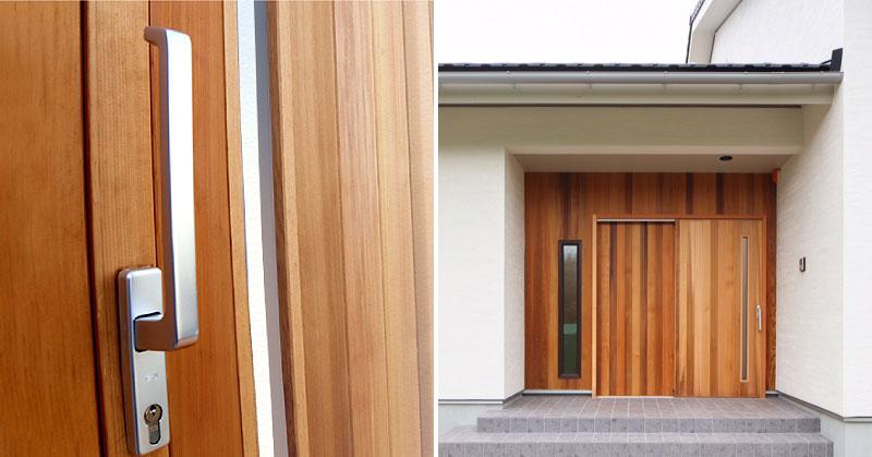 大和屋木製玄関引き戸