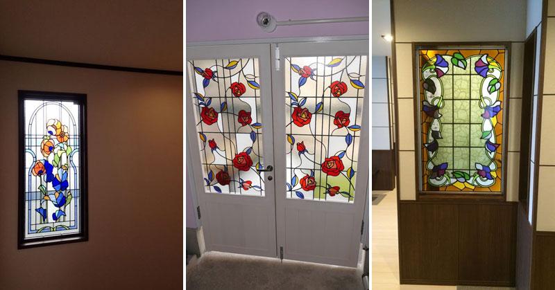ステンドグラス風装飾ガラス