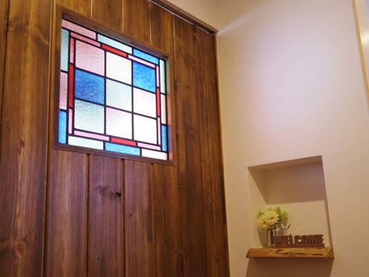 ステンドグラス風装飾ガラス オーダーの施工例