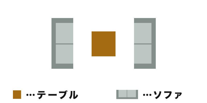 対面型のイラスト