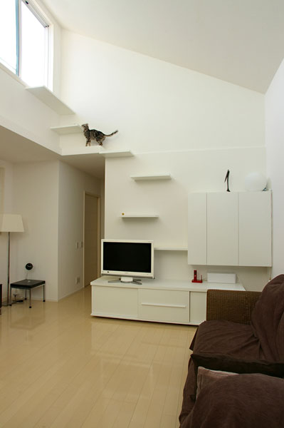 猫用リビング階段の施工例25