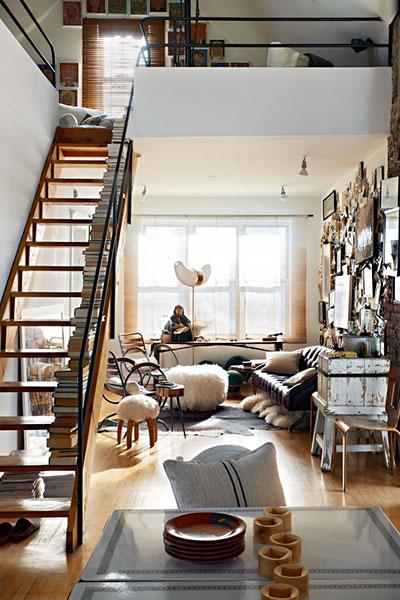 リビング階段の施工例12