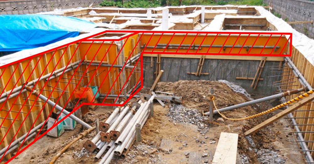 コンクリート基礎を作る時のコンパネ