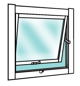 突き出し窓